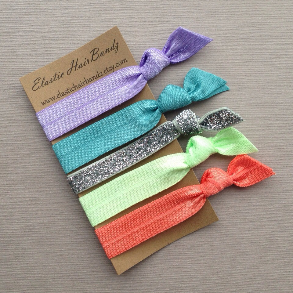 The Pia Hair Tie Ponytail Holder Collection by Elastic Hair Bandz on Etsy
