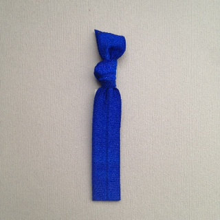 1 Sky Blue Hand Dyed Hair Tie by Elastic Hair Bandz on Etsy