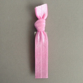 1 Pale Pink Hand Dyed Hair Tie by Elastic Hair Bandz on Etsy