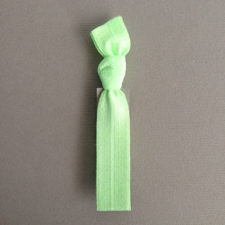 1 Pale Kelly Green Hand Dyed Hair Tie by Elastic Hair Bandz on Etsy