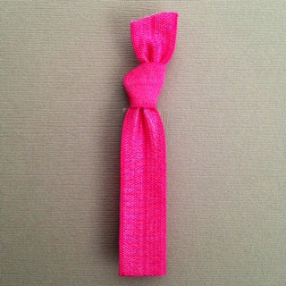 1 Pink Hand Dyed Hair Tie by Elastic Hair Bandz on Etsy