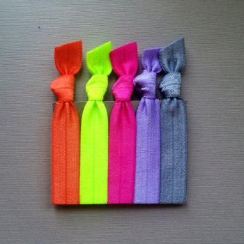 The Brights Hair Tie Collection - 5 Elastic Hair Ties by Elastic Hair Bandz on Etsy